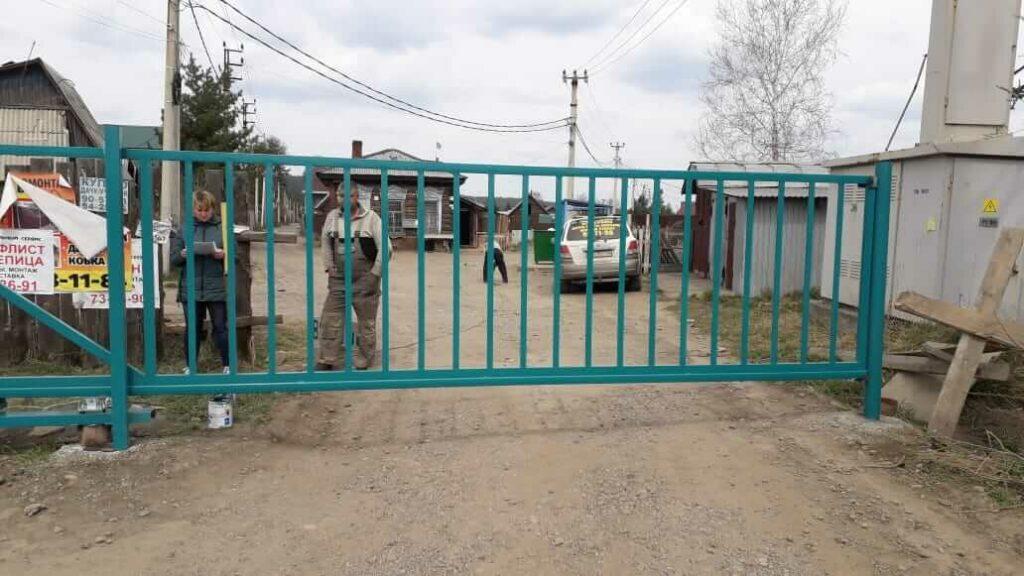 Откатные ворота с автоматикой СНТ Восток