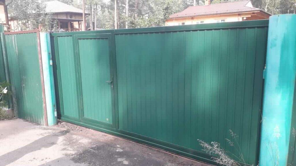 Откатные ворота на Байкальском тракте