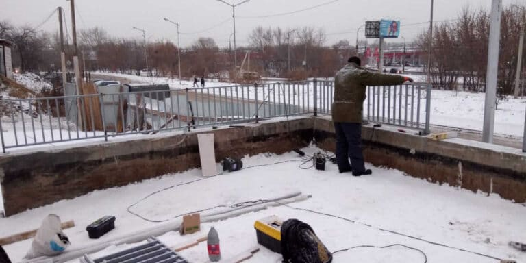Ограждения на крыше в мкр.Союз