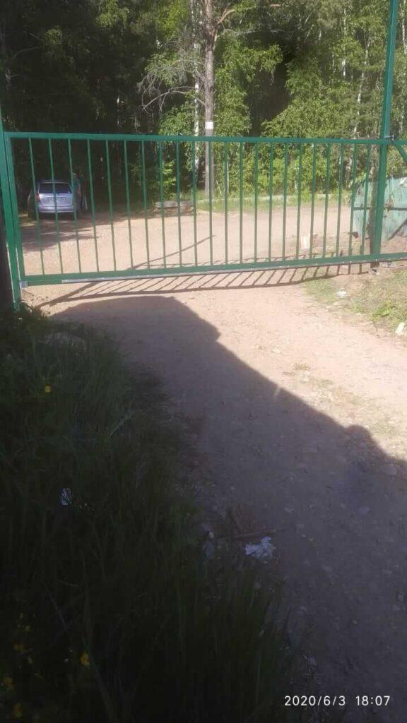 Откатные ворота на Байк. тракте
