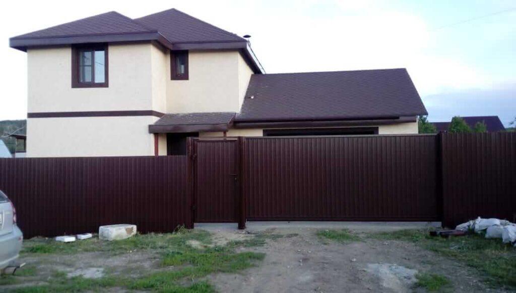 Забор и ворота д. Вдовина