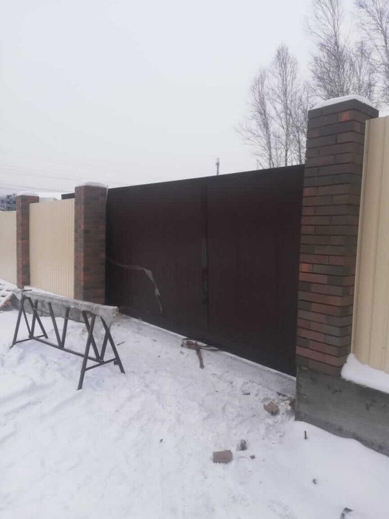 Откатные ворота в Ново-разводной